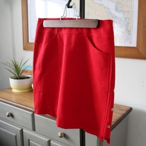 Dexim Golfwear Skort made in Canada size 6 Red